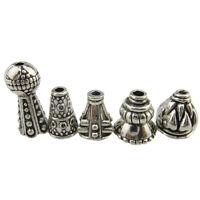 4set=20pcs Mix Antique Silver Alloy Jewelry Findings Filigree Mini Tassel Cap