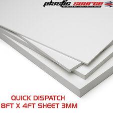 3mm 8ft x 4ft (1220mm x 2440mm) Matt White Rigid Foam PVC sheet Foamex