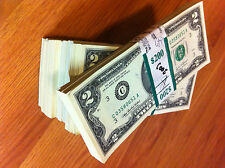 $2 15 sequentially numbered -NEW CRISP BILLS-TWO DOLLAR -USA 2 DOLLAR REAL NOTES