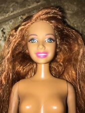 CALI GIRL BARBIE HAWAIIAN HAIR SUMMER REDHEAD DOLL Nude Rare OOAK Beach Feet