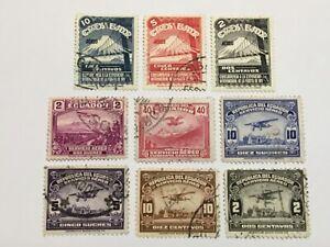 old stamps  ECUADOR   x  9 air post