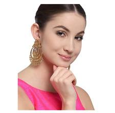 Indian Chandbali Gold Jhumka Kundan Jhumka Indian Gold Jhumka Earrings Bollywood