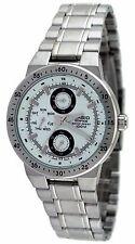 Casio #EF314D-7AV Men's Edifice Stainless Steel White Dial Multifunction Watch