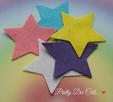 5 Felt Stars, 8cm, 3.14 inches, die cut star shape Craft Embellishments