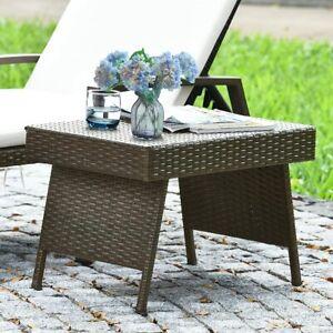 Polyrattan Gartentisch Rattantisch Klappbar Beistelltisch Bistrotisch 60x40x40cm