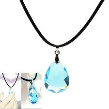 Cosplay Light blue Crystal Necklace for Sword Art Online SAO Kirito Asuna's