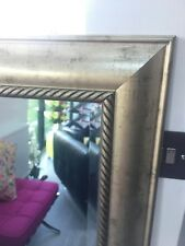 Pewter Wall Mirror Very Large 109x132 Cms