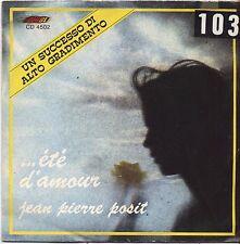 """Jean Pierre posit-Ete 'D' Amour-Vinyl 7"""" 45 LP Italy 1975 VG + Cover VG -"""