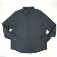 Untuckit Button Down Shirt Men's 2XL Dark Gray Long Sleeve Collared 100% Cotton