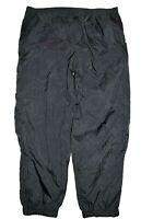 Vintage Nike Track Pants Size XL Black Jogger Warm Up Lined Windbreaker Nylon