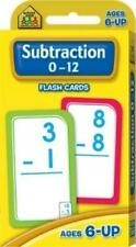 Hinkler School Zone Subtraction 0-12 Flash Cards Ages 6-up Early Learning - #A21