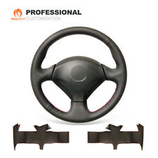 Top Black Leather Steering Wheel Cover for Honda S2000 Civic Si Acura RSX Type-S