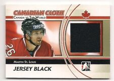Martin St. Louis 11-12 Canada vs The World Canadian Cloth Game Jersey Black 120