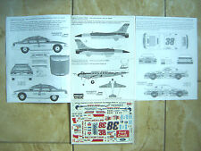 """DC-3/F-16/FORD T-BIRD/CHEVY CAPRICE """"VIRGINIA 96"""" IPMS USA DECALS 1/72 1/48 1/24"""