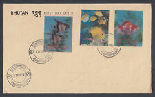 1969 Bhutan 3D Fish Fishes Stamp Stamps First Day Cover FDI FDC Asia