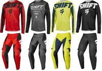2019 Shift MX WHIT3 White York Muse Jersey Pant Gear Combo Dirt Bike YOUTH