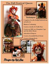 "*NEW* CLOTH ART DOLL PDF E-PATTERN/CLASS DOWNLOAD ""FALL FESTIVAL QUEEN"""