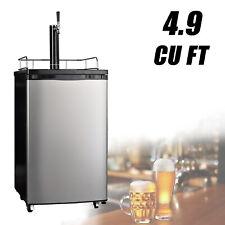Freestanding Kegerator Draft Beer Dispenser with Beer Tower Keg Cooler 4.9 cu ft
