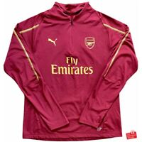 Authentic Puma Arsenal 2018/19 1/4 Zip Training Top. Size L, Excellent Cond.