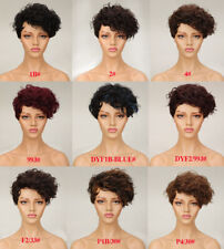 Women Pixie Cut Wig Short Wave Real Human Hair Wig No Lace Wig Natural Hairline