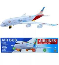 Airbus A380 Aeroplaine Electronic Toy Lights And Sound Bump And Go Sound Toy New