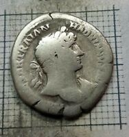 ROMAN imp. Hadrian 117-138 AD. Original Antique Coin SILVER AR Denarius # 0682