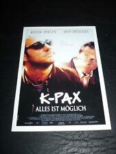 K-PAX, film card [Kevin Spacey, Jeff Bridges]