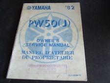 Yamaha PW50 PW50J PW 50 J Pee Wee 50 1982 Genuine Workshop Service Manual