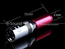 1pc PX-6 Alloy XLR balanced male plug Mic plug Connector For Power Amp 9.5*75mm
