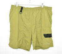 Eddie Bauer Cargo Nylon Hiking Shorts Men's XL Lined Green