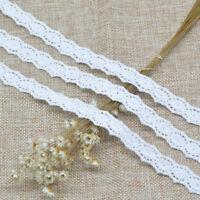 5 Yards White Cotton Crochet Lace Beautiful DIY Craft Trim Sewing Fabric Ribbon