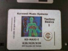 Kurzweil ~ TECHNO BASICS 1 ~  KD-MAXI-1 ~ V.A.S.T. 400 Native KRZ Programs!!!