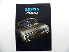 Catalogue / brochure AUSTIN MAXI en anglais