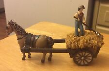 "Dollhouse Miniatures - Concord ""OUR TOWN"" - Horse & Hay Wagon"