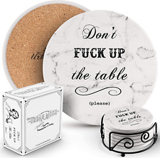 6-Piece Set Coasters for Drinks Absorbent in Kitchen Living Room Décor