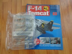 1/32 HACHETTE BUILD THE F-14 TOMCAT MODEL PLANE ISSUE 63 INC PART PICTURED