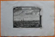 VAN DER AA Gravure originale c1725 VUE DE CHÂLONS-EN-CHAMPAGNE Marne