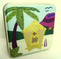Fossil Watch Tin Box Square Beach Rental 2002 Empty Box Only