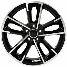 "18"" Wheels Black Machined For VW Beetle CC 18X8.0 +35 5X112 Set of (4) Rims"