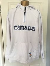 Canada Vancouver Olympics 2010 2XL White Hoodie Sweatshirt Top