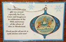 Disney 2011 Family Holiday Celebration Alice in Wonderland Christmas Ornament!
