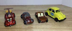 LOT 4 Vintage Hot Wheels Matchbox Tootsie Toys Corgi Jrs Volkswagen VW Red Yello