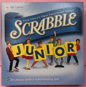 Scrabble Junior Milton Bradley Hasbro Child Vintage