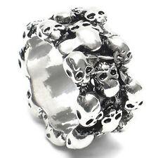 Men's Gothic Skull Finger Ring Stainless Steel Punk Biker Knuckle Ring C