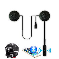 Motorcycle Helmet Bluetooth Headset Wireless Headphone Mic Hands-free Earphone