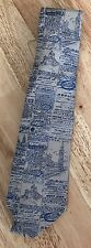 Turnbull & Asser Newspaper Blue/Biege Tie Finest English Silk RRP £125
