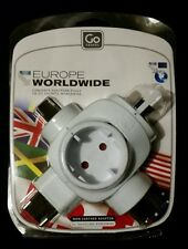 Go Travel~Europe Worldwide NON-Earthed Adaptor for EU Traveler Abroad~New in Box