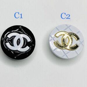 Double C Designer Croc Jibbitz Bling Metal Shoe Charms