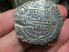 8 reales 1661  Phillipus IIII  , silver, . macuquina, Mexico. Rare graphila