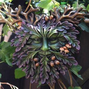 Green Man Wall Plaque Fruit Of The Oak Man Of The Forest Wood Spirit Garden